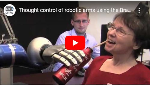 Thought control of robotic arm