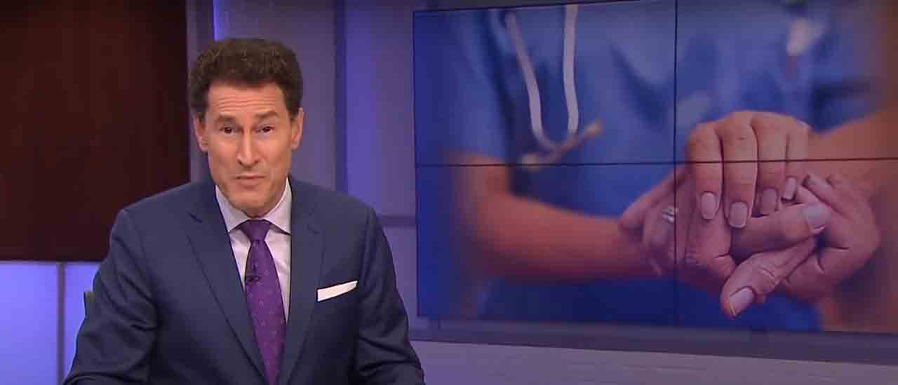 A screen cap from the video showing Steve Paikin as he discussed Ontario's boomer health problem