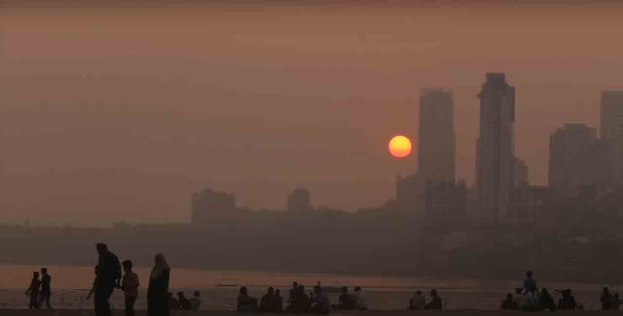 A sunset at India