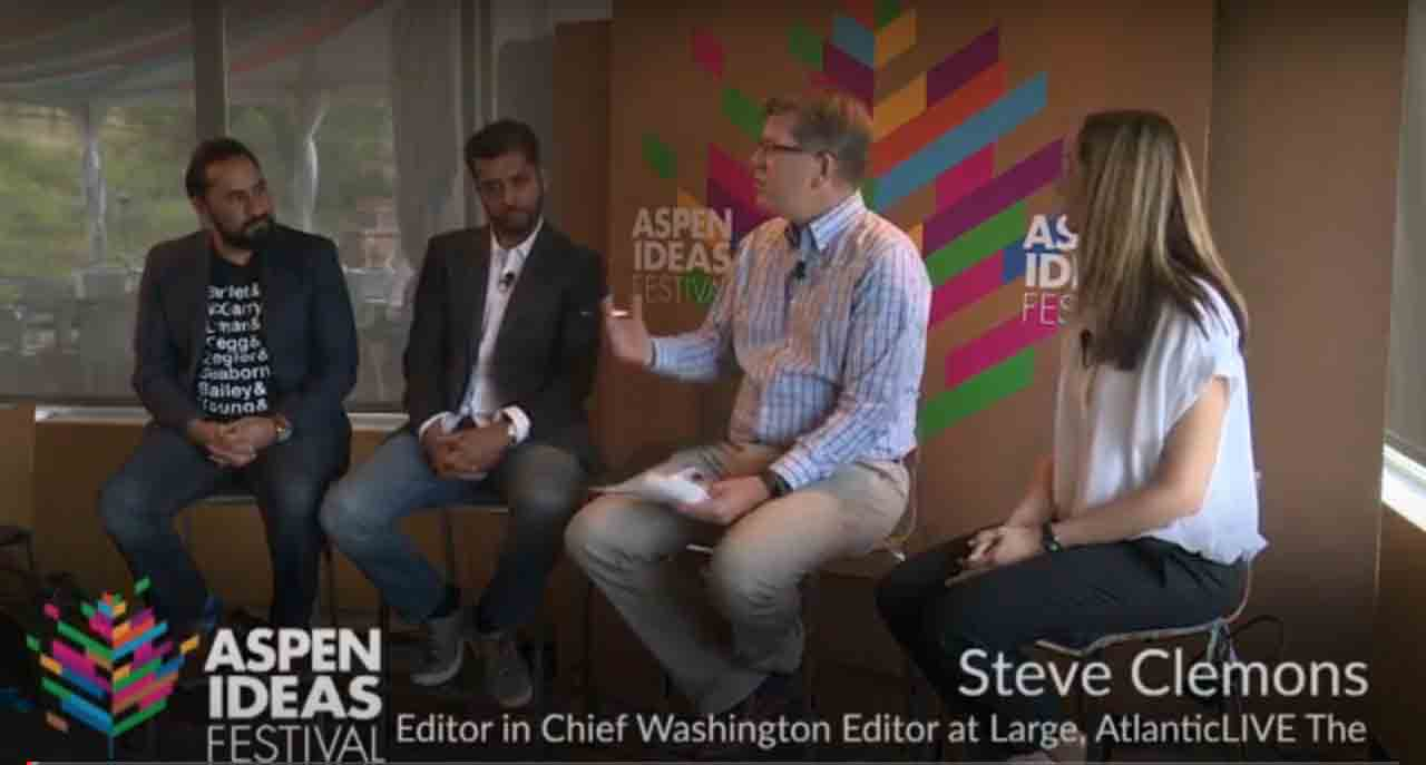 People at Aspen Institute talking about hate and extremism