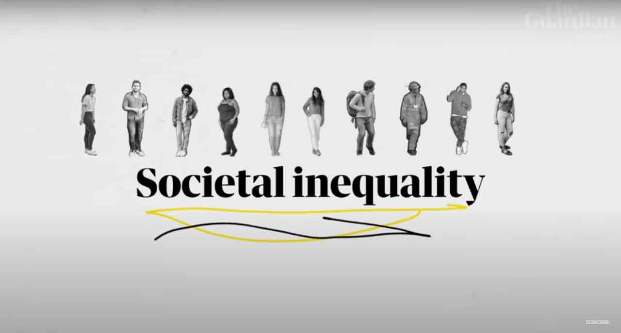 Screen cap from The Guardian showing societal inequality text
