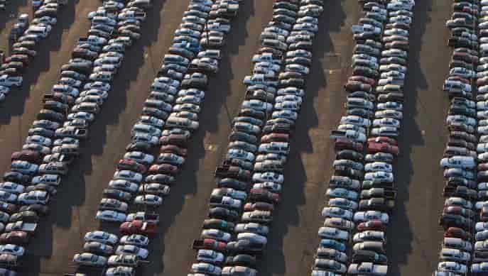 Fewer cars