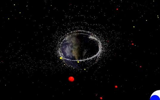 Orbital space junk
